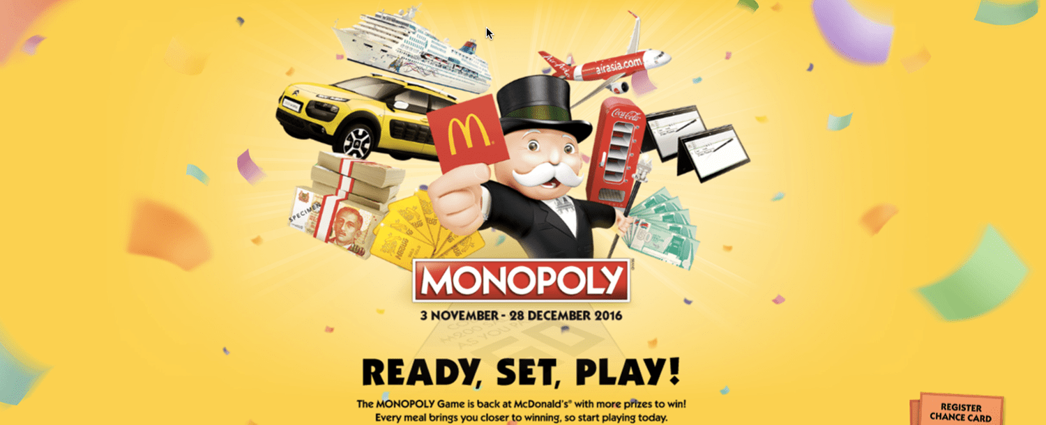 McDonalds Monopoly Collectors