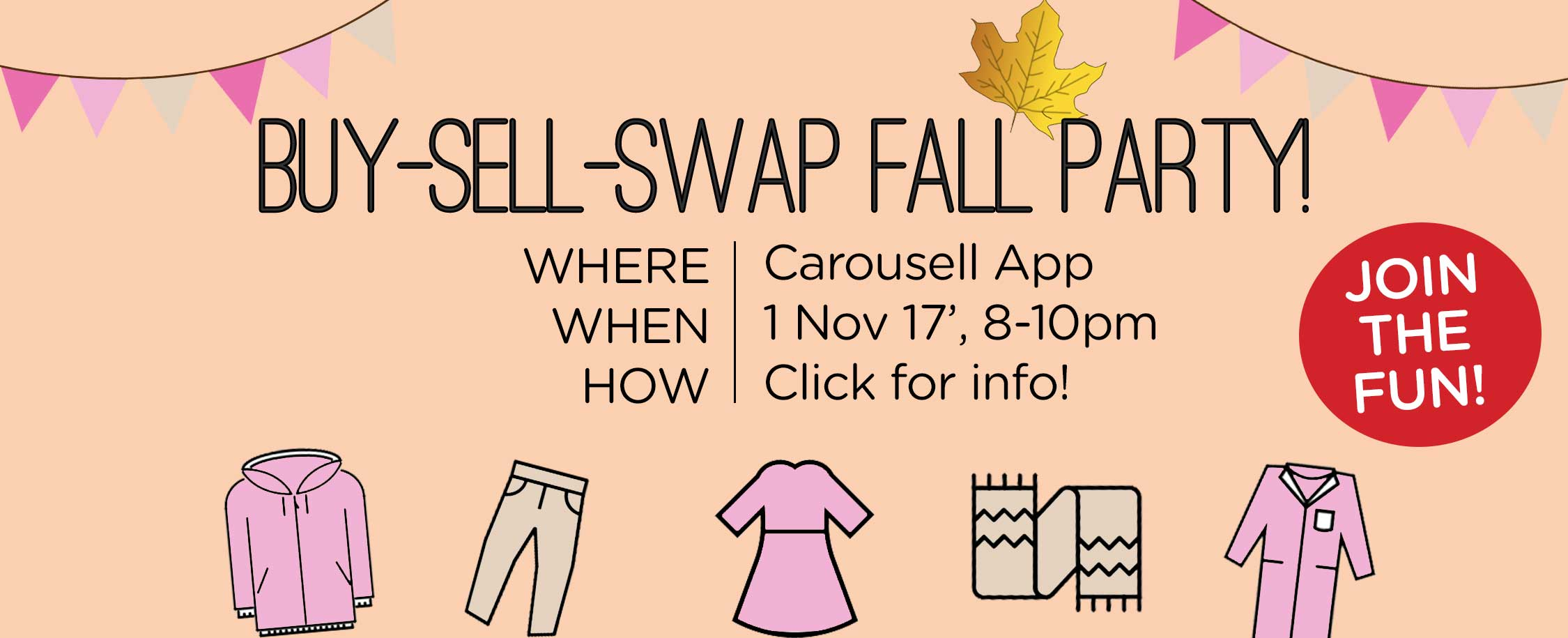 LIVE BUY-SELL-SWAP PARTY! 1 Nov, 8PM (GMT -4)