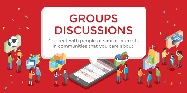 NEW: Discuss interests in communities that you care about with Carousell Groups Discussions!