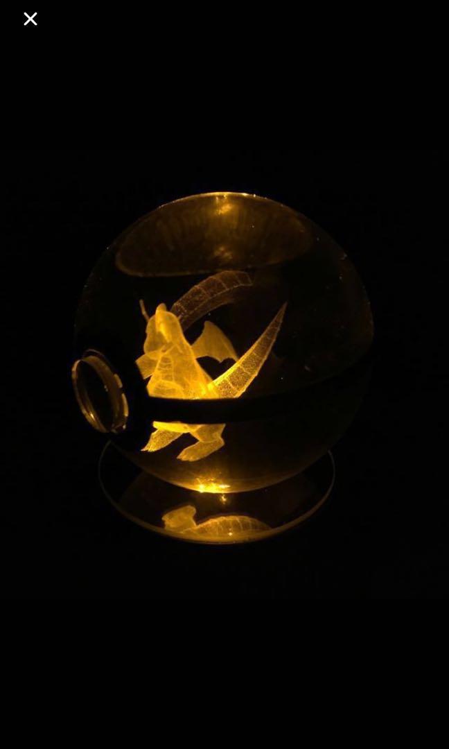 3D laser engraved Pokémon crystal ball