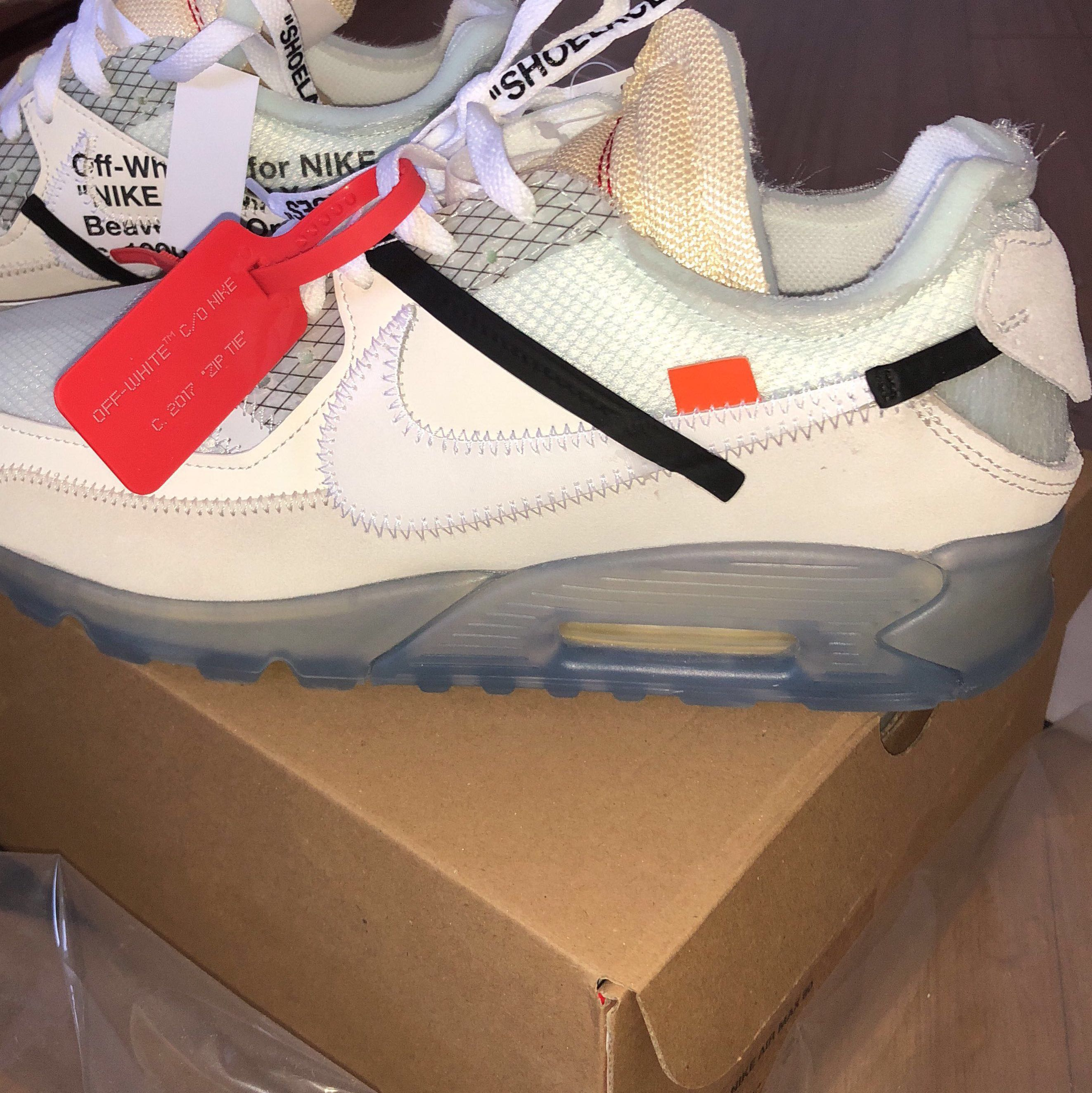 Snap i got of my mates off white x nike air max 90 such a