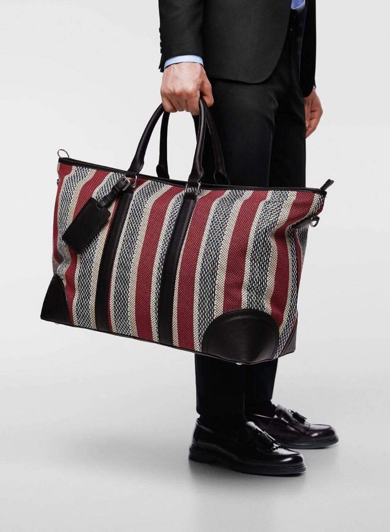 Zara fabric bowling bag