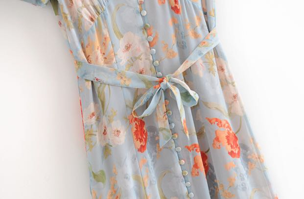 Asey Yap Europeal Floral Dress
