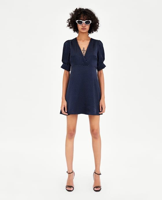 Zara trf polka dot dress