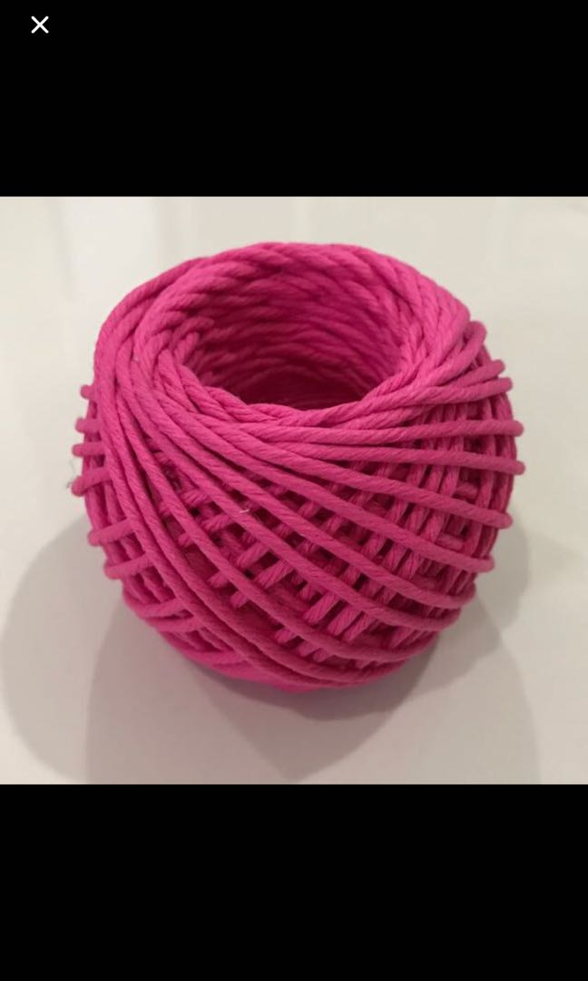 Colour cotton twine