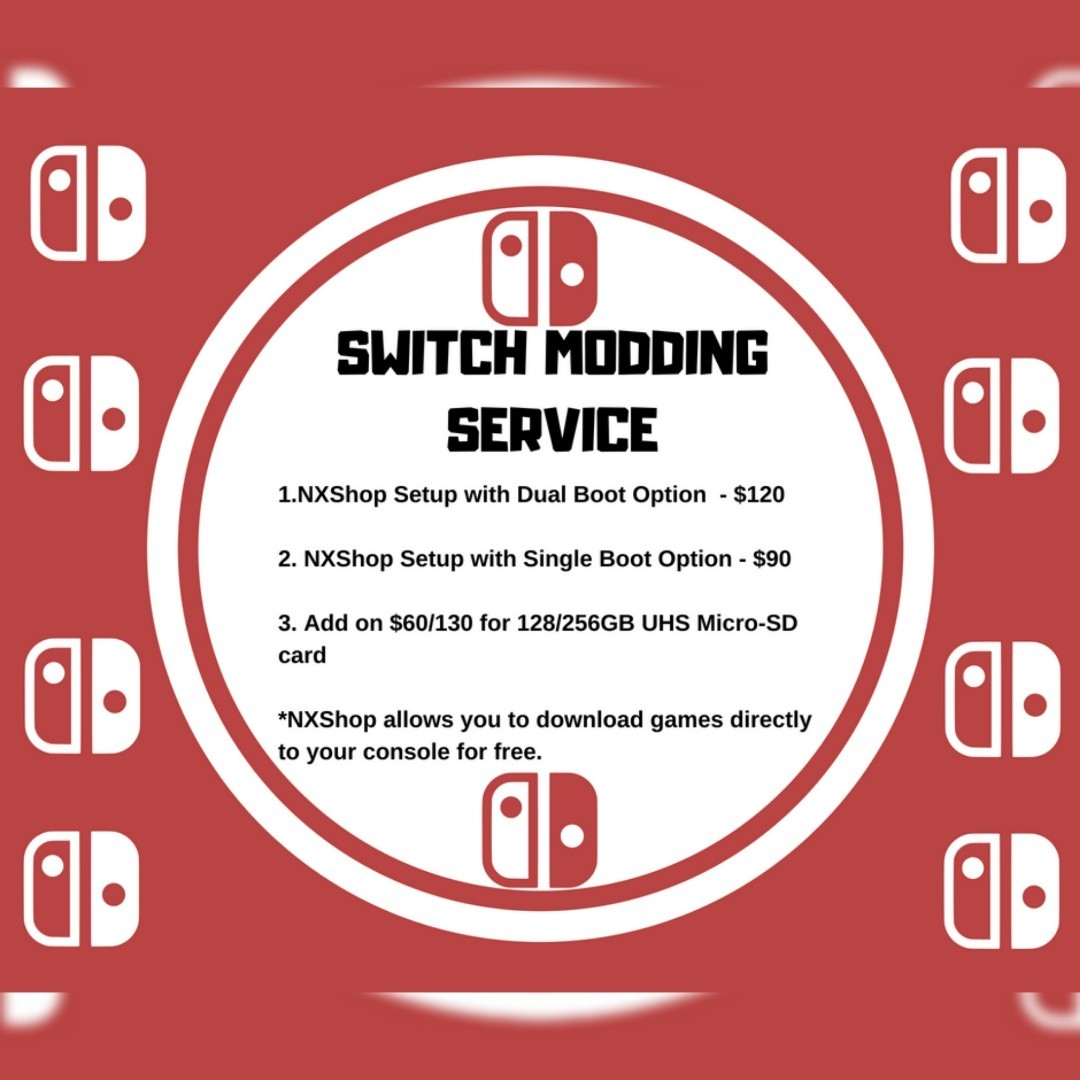 Nintendo Switch Modding Service