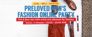 Preloved Men's Fashion Online Party- Pull & Bear dan H&M dibawah Rp 100Ribu