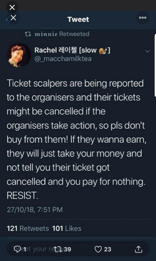 DON'T FREAKING BUY FROM SCALPERS!!!!