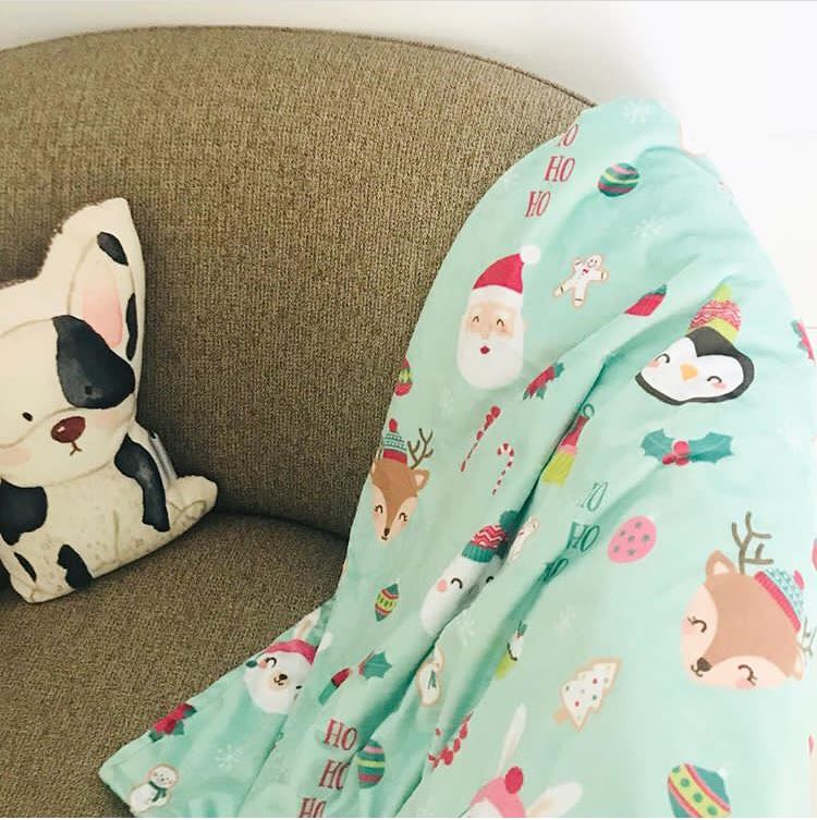 Christmas baby blanket - toddler blanket giveaway