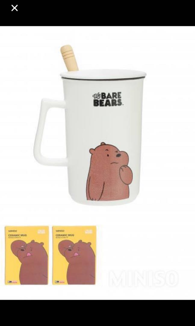 we bare bears Mug and minion trading cards