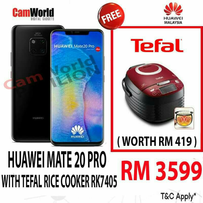 | HUAWEI MATE 20 PRO | | WITH TEFAL RICE COOKER & TEFAL STEAM IRON |  https://shopee.com.my/camworld