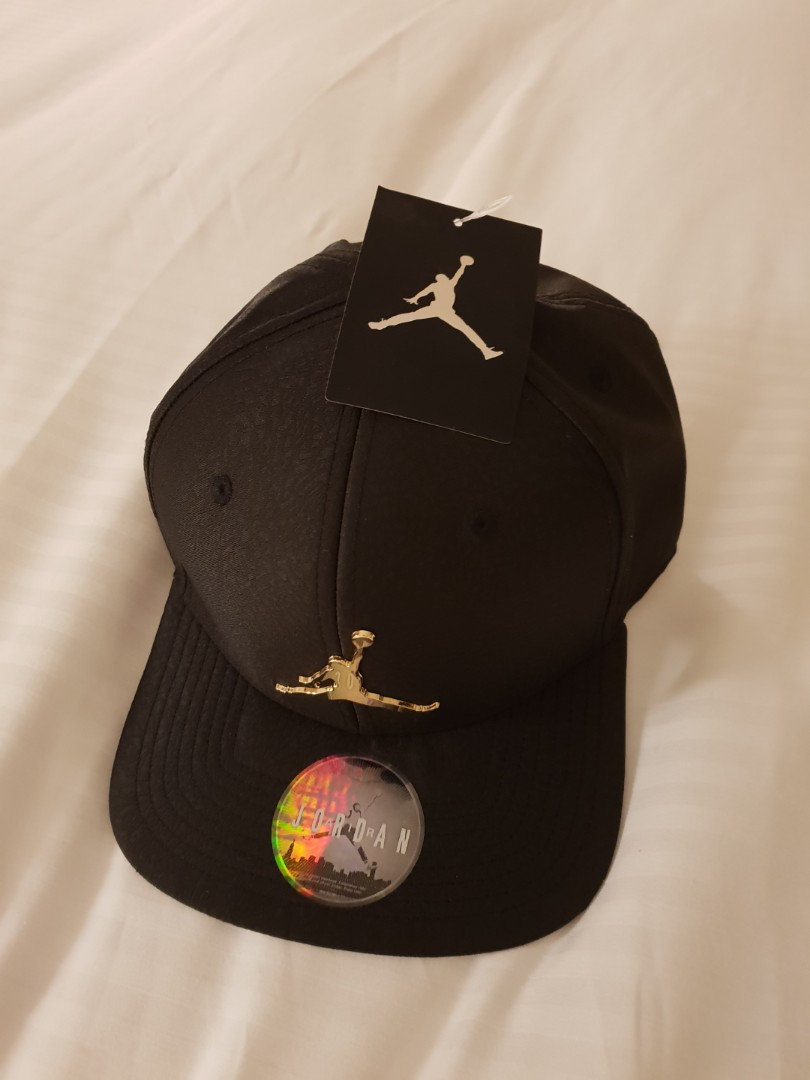 RARE Air Jordan Snapback with Gold plated Jumpman