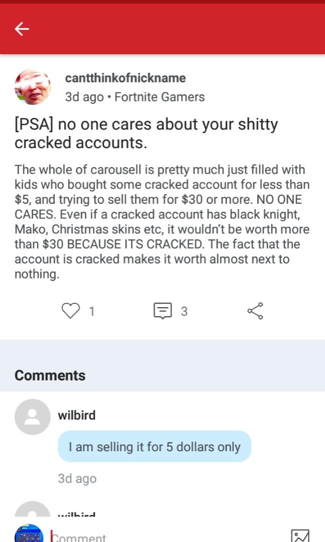Cracked Accounts