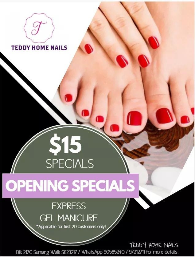 Teddy Home Nails Promotion