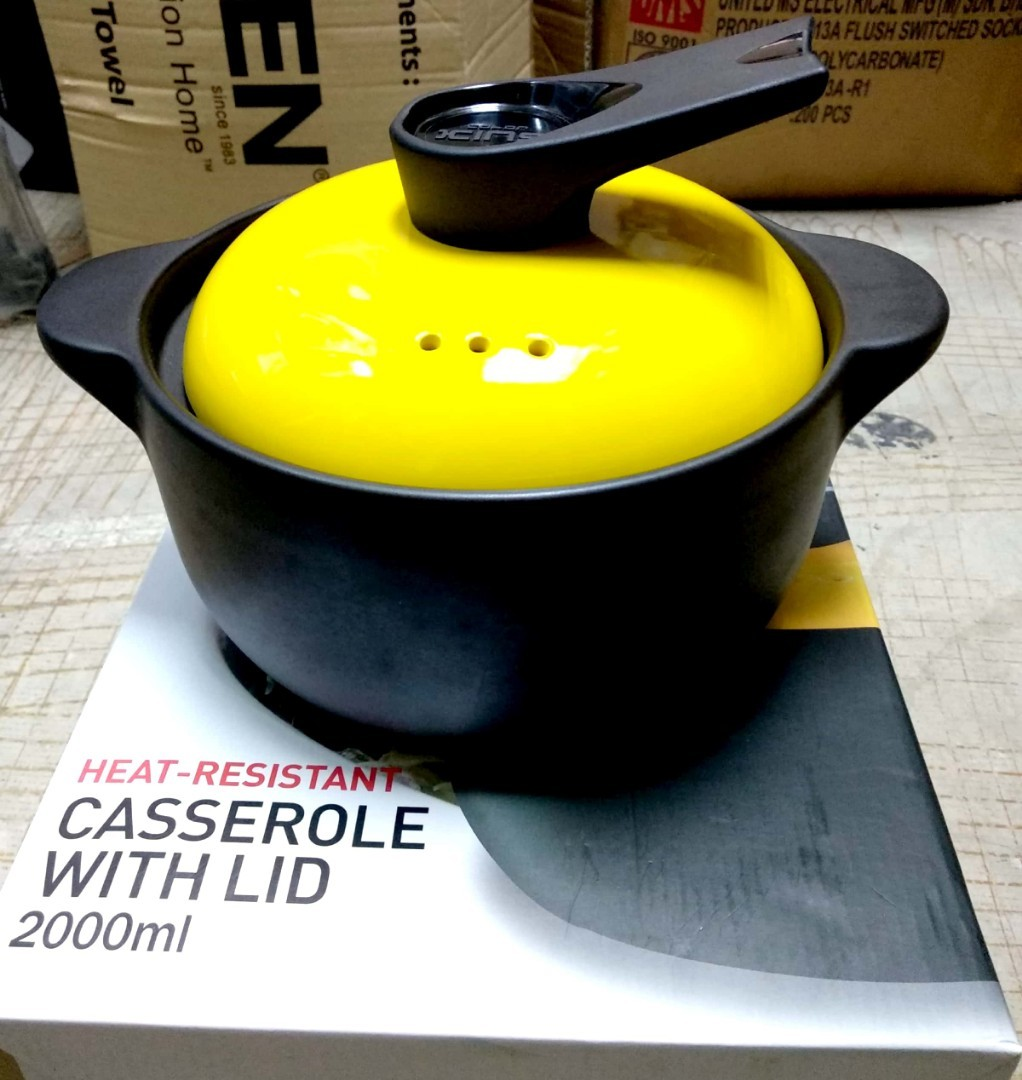 KING Heat Resistant Casserole with Lid