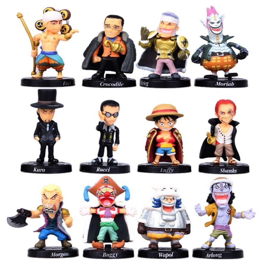 12pcs/set one peice anime action figure