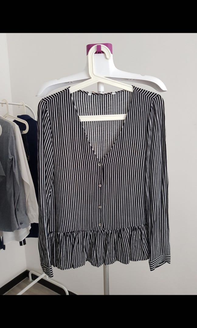 Looking for this Zara stripe peplum shirt