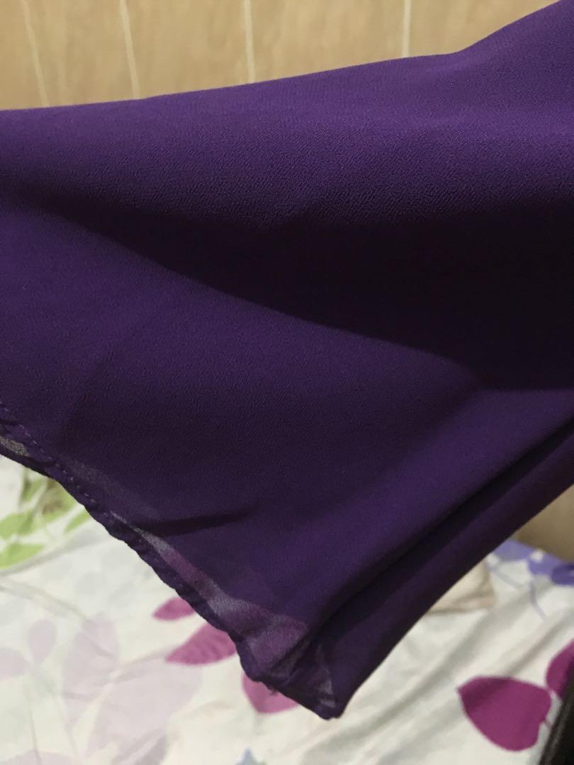 Purple dress chiffon