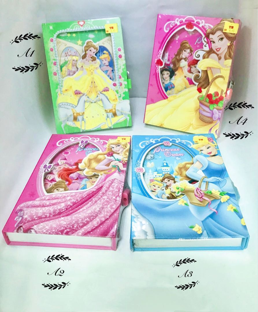 Girl's Favourite  5 character Diary Book with Keylock 5 character design