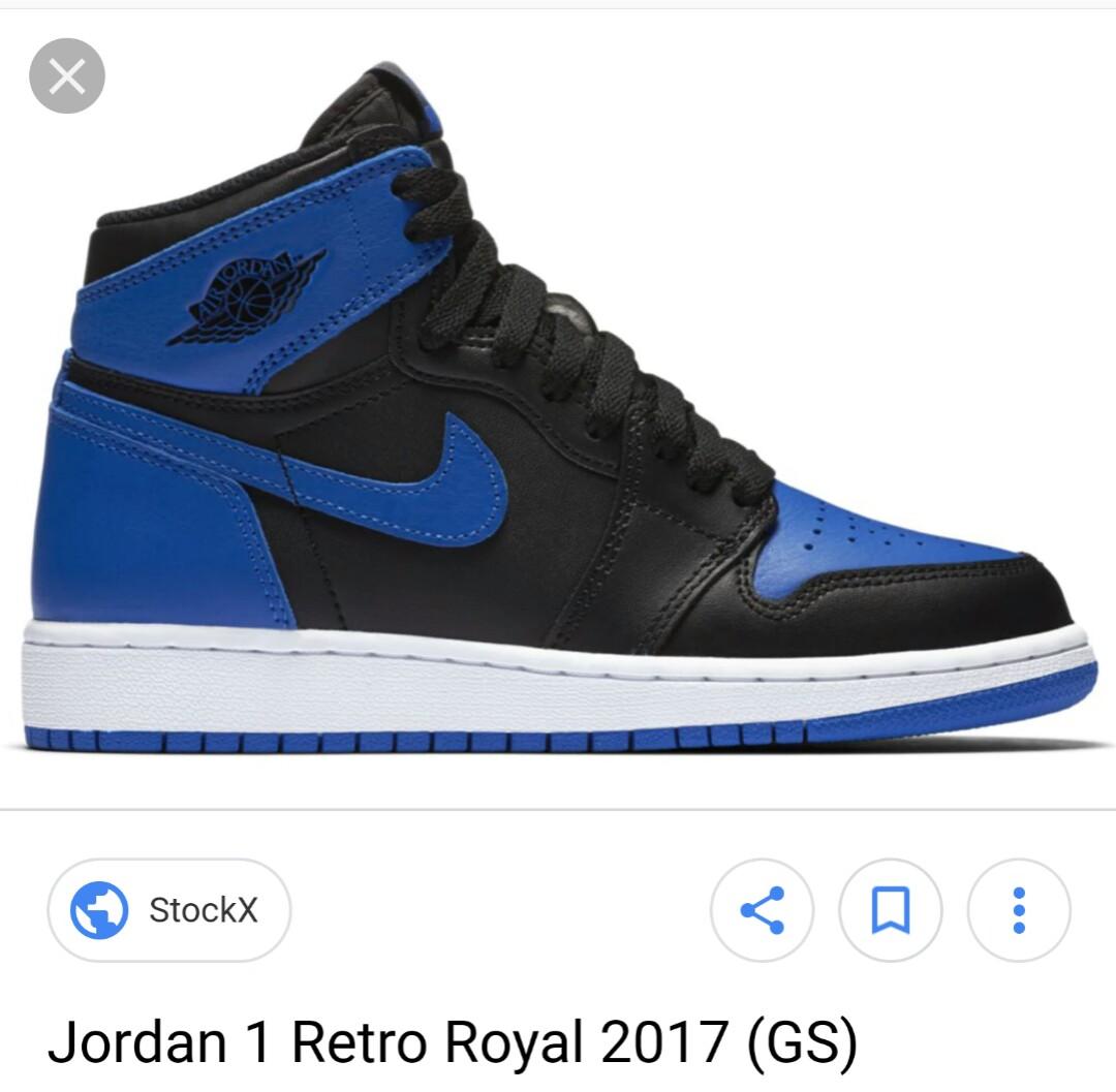 Air Jordan 1 Royal Blue GS