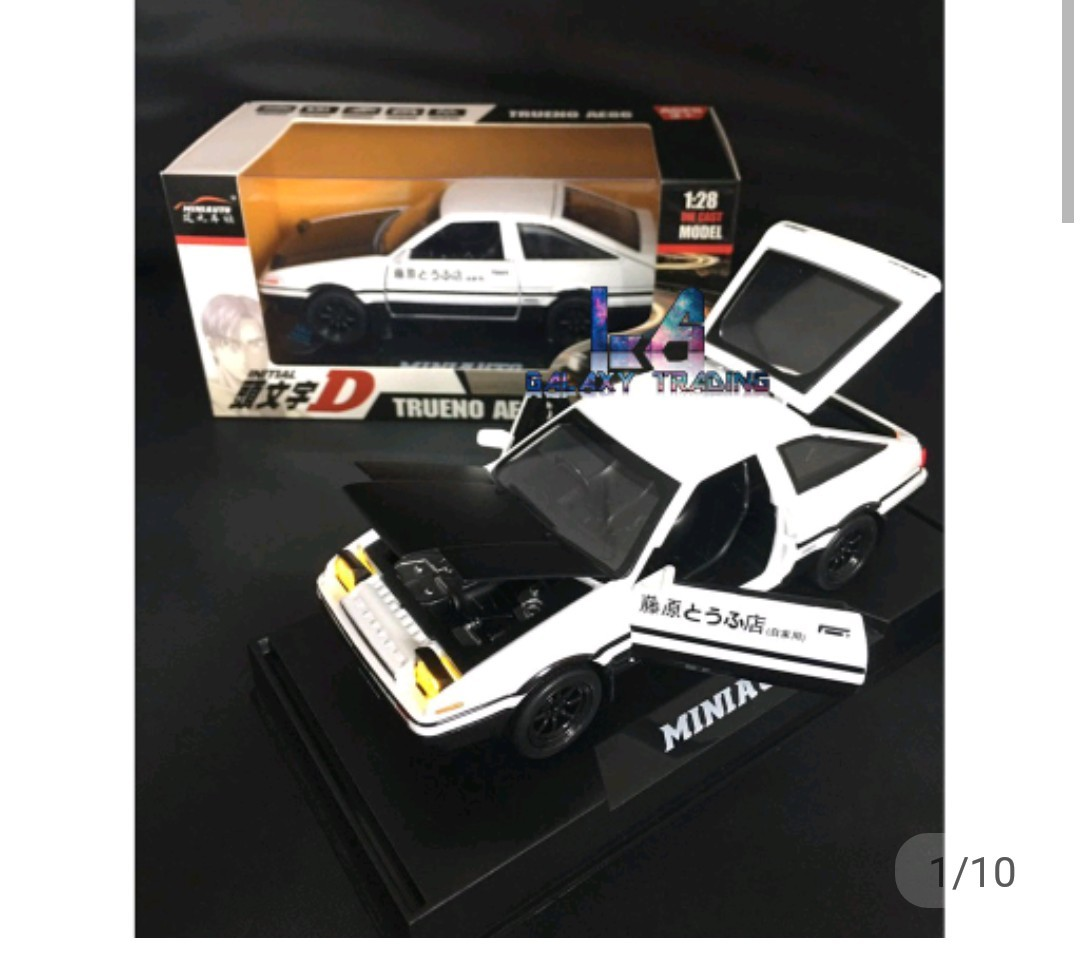 Ready Stock Initial D AE86 Modal 1:28