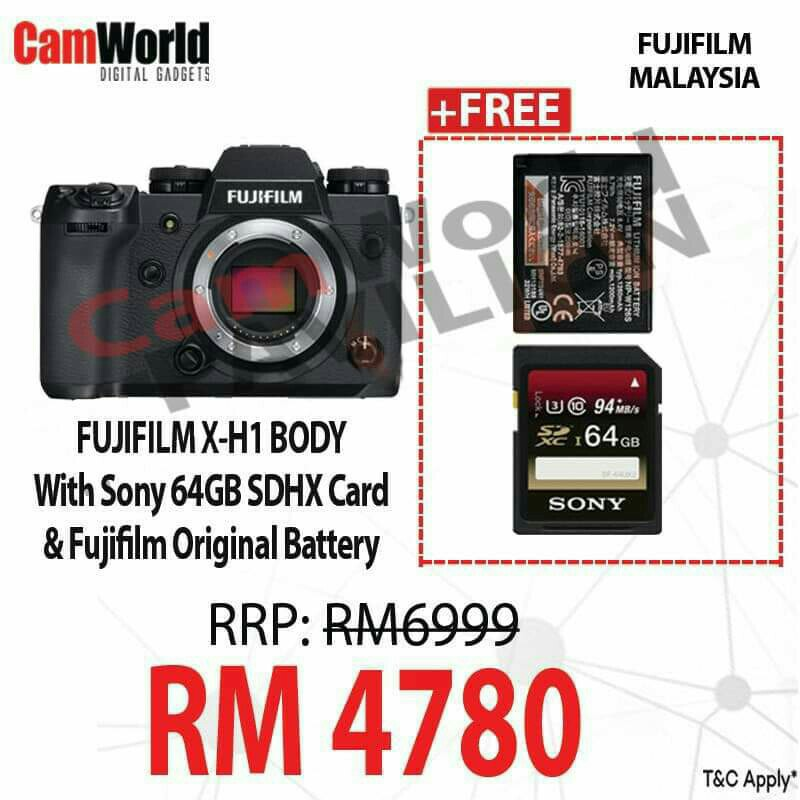 FUJIFILM X-H1 BODY ONLY PROMOTION FOR CNY 2019 | https