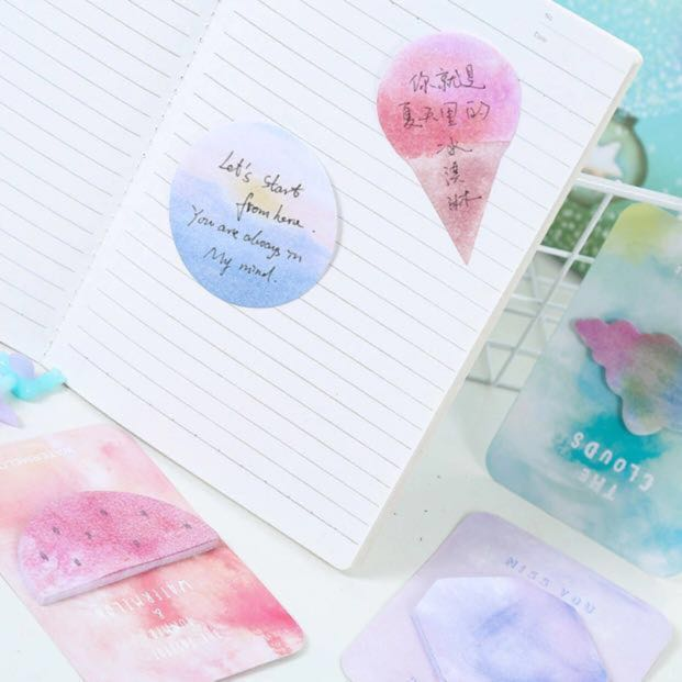 cute sticky notes ☁️