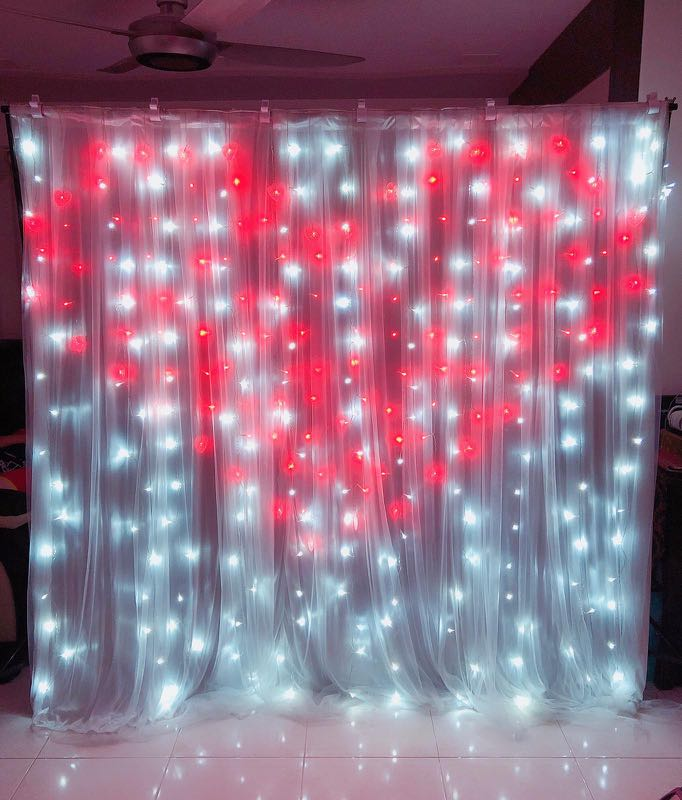 Wedding / Engagment / Birthday Backdrop (2x2m)