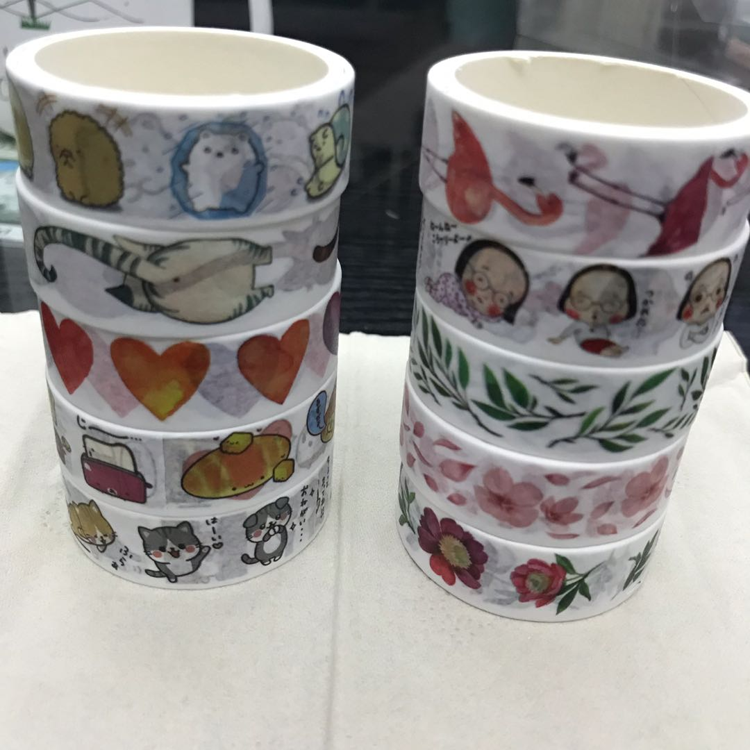 selling loads of stickers & washi tapes!
