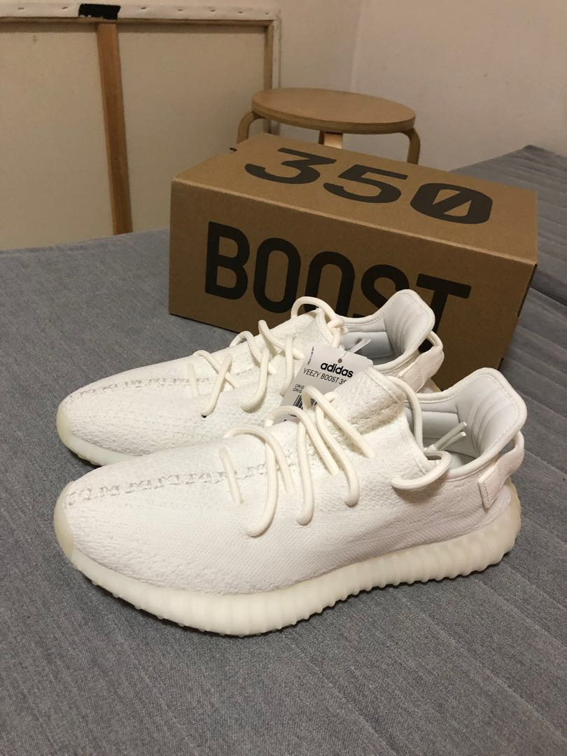 Yeezy Boost 350 V2 Cream/Triple White and Static (Non-Reflective) US 8.5