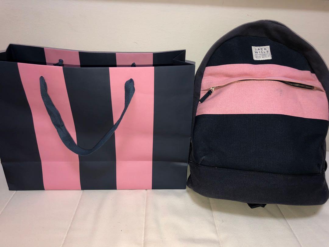 Jack Wills Bag with paper bag