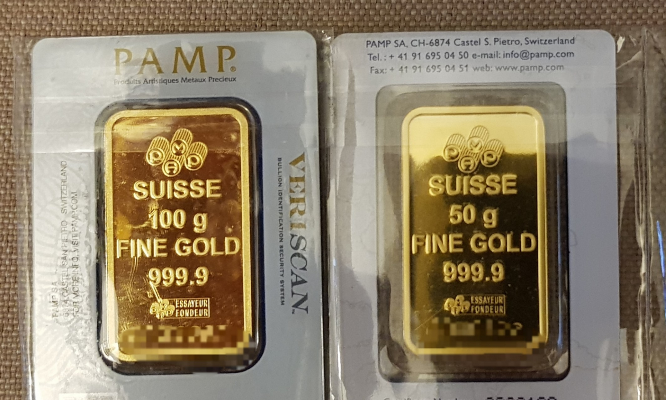 PAMP Gold 999.9 for Sale