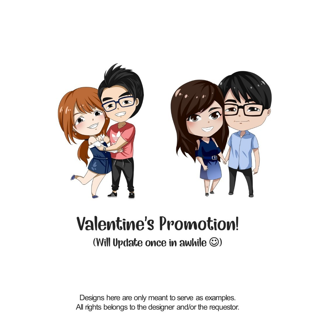 Chibi Commission Design and Merch [VALENTINES PROMOTION]