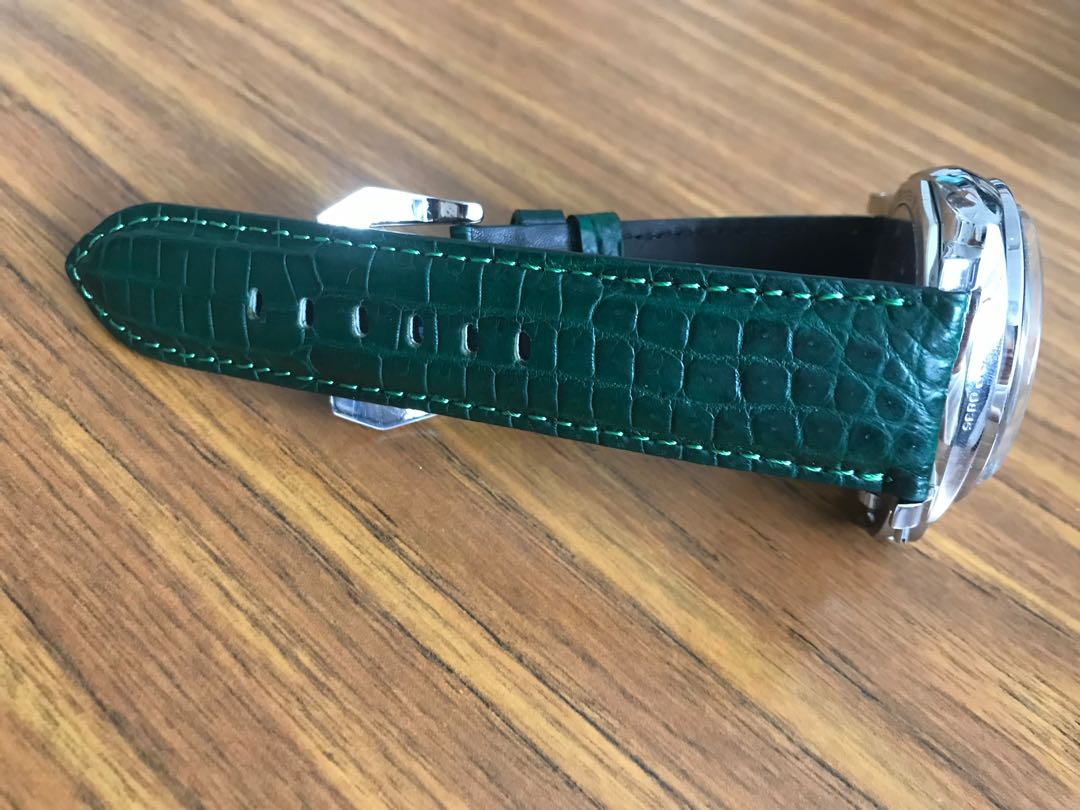 Exotic handmade Crocodile/alligator/Ostrich/python or calf watch straps
