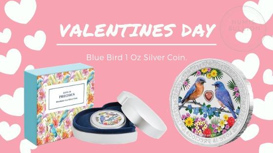 Blue birds love is precious 1oz Silver Coin for $120