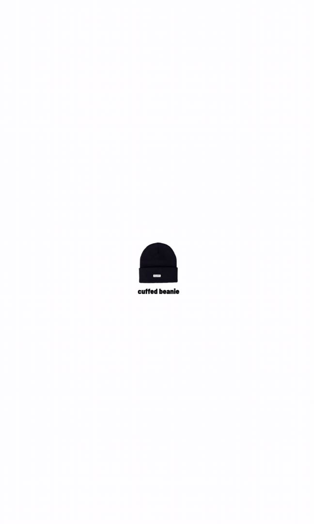 ZYOK cuffed beanie [basic black] - headgear yang osem