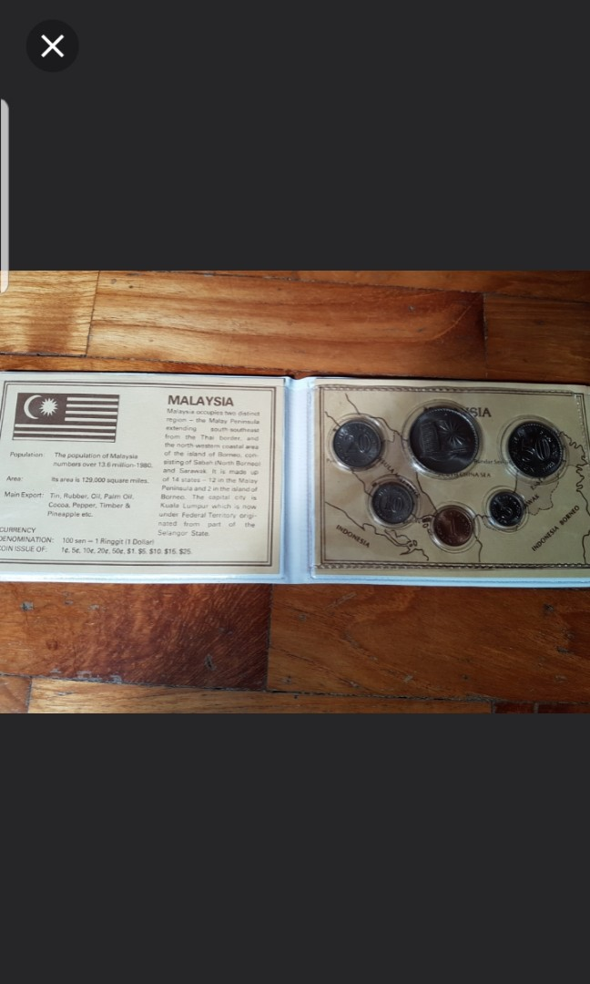 1981 Malaysia world commemorative coin set