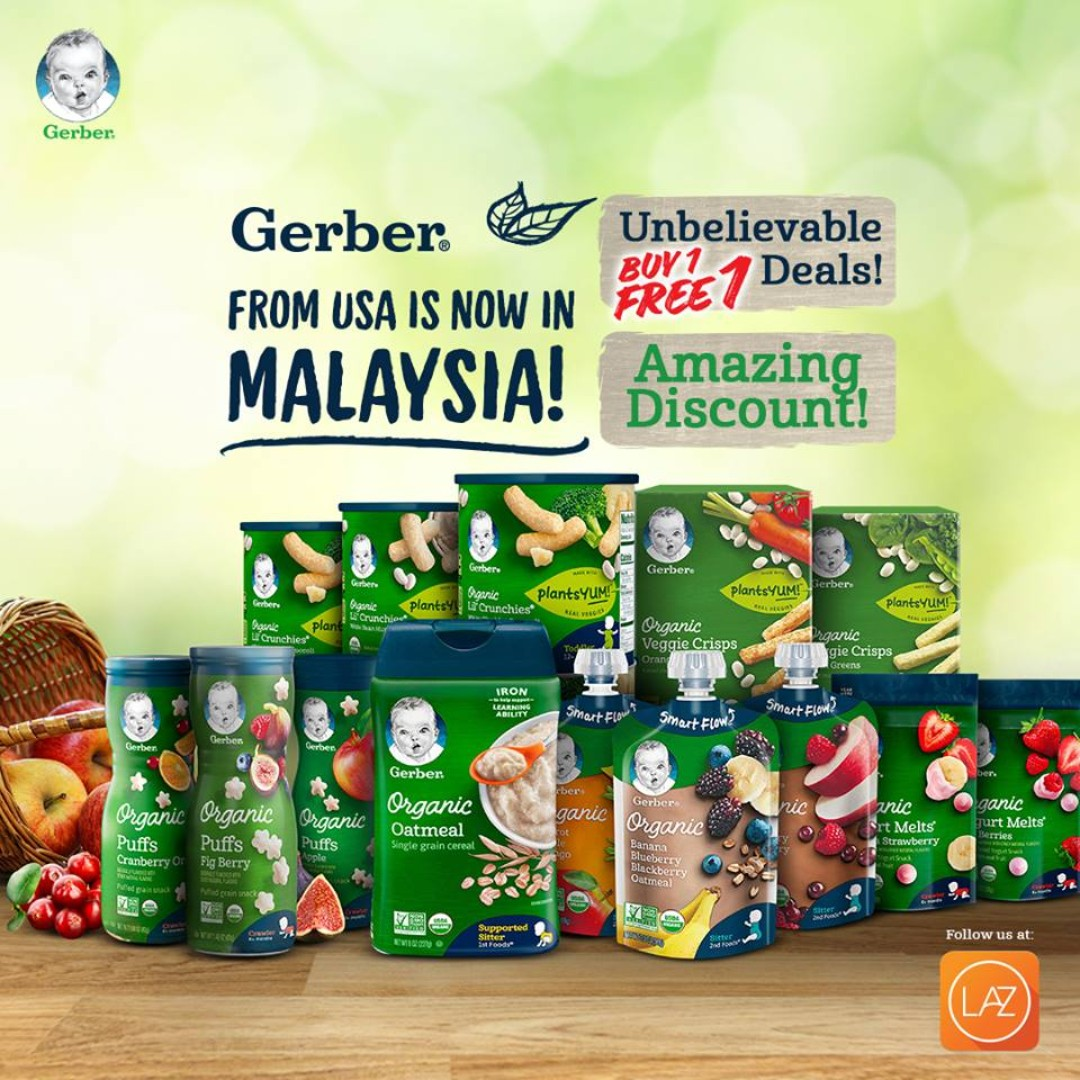 Gerber, the No.1 Baby Food brand from USA is now in Malaysia!