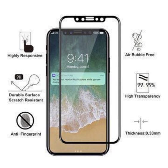 Premium Full Glue iPhone Tempered Glass Screen Protector