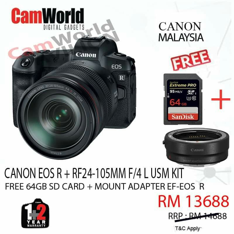 CANON EOS R + ANGPOW CASHBACK RM600.00 ( ONLINE REGISTER CASHBACK ).