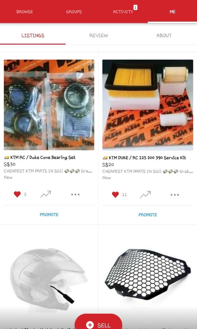 KTM SPARE PARTS - CHEAP SALE
