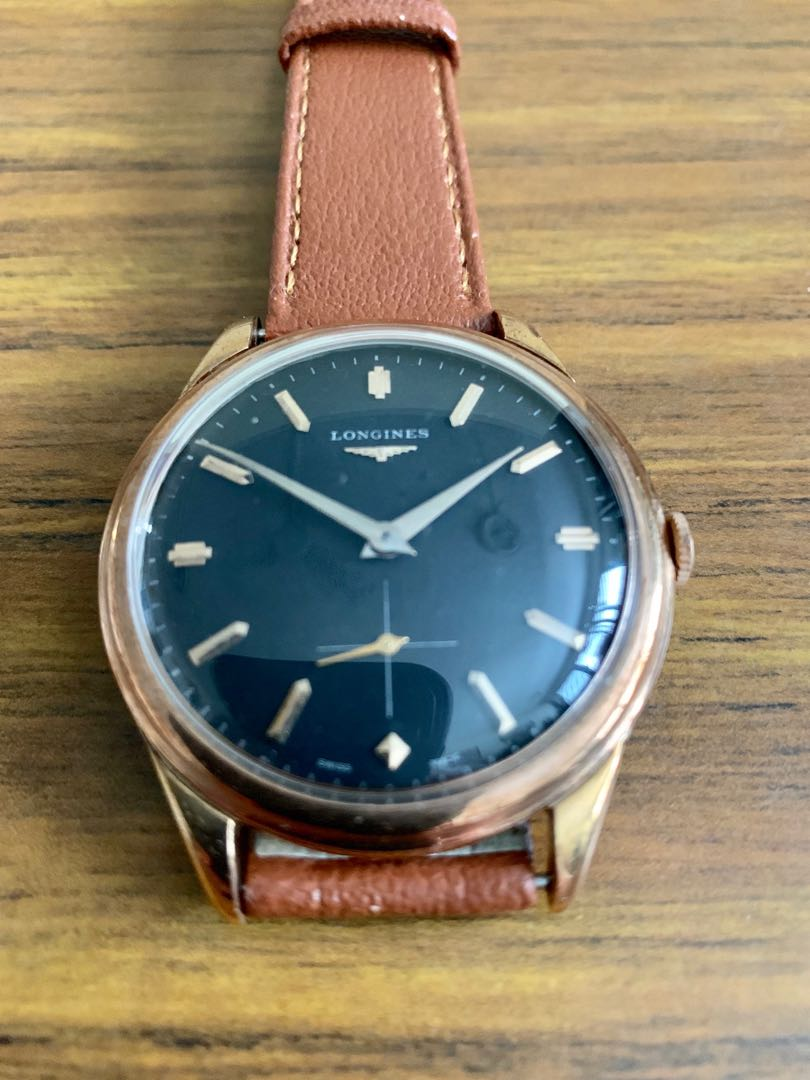 Longines 12.68z calibre Rose Gold Plated Jumbo Size 39mm (very rare!) Vintage Small Seconds