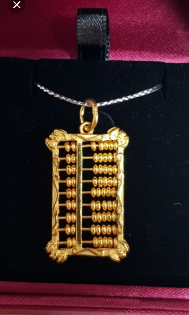 916 Abacus pendant