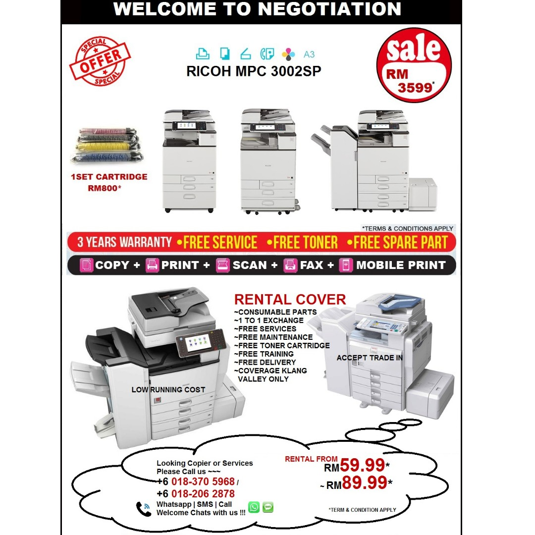 Photocopier Machine all in one copy print scan