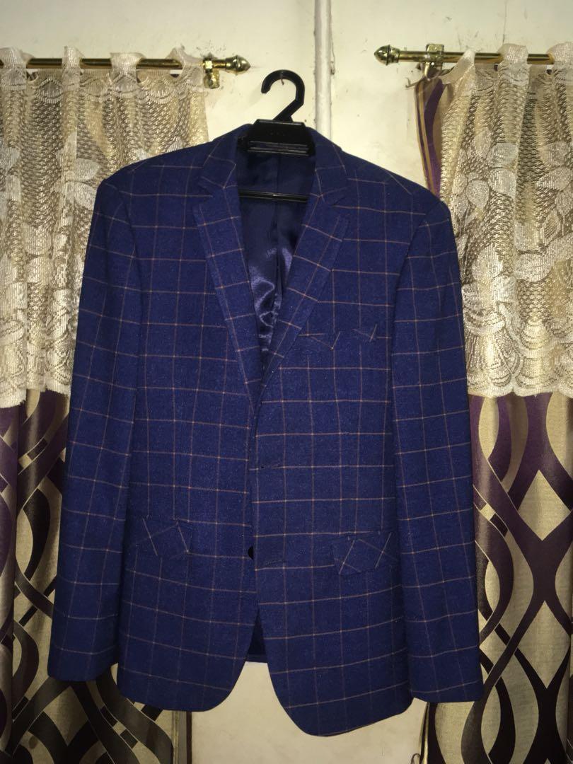 Suits For Men Blue Check