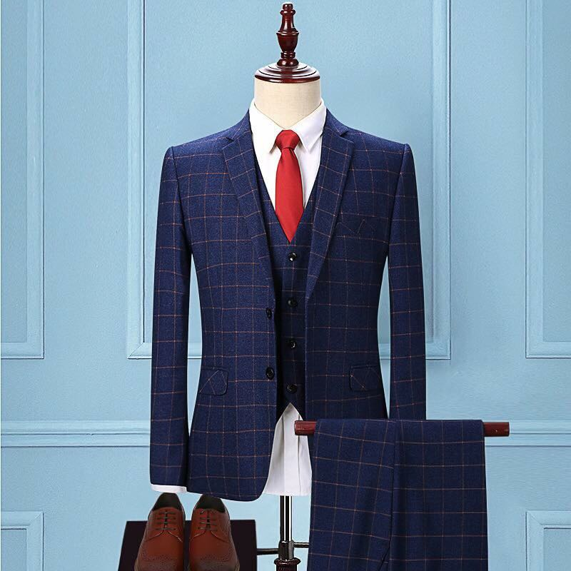 Suits For Men Blue Check