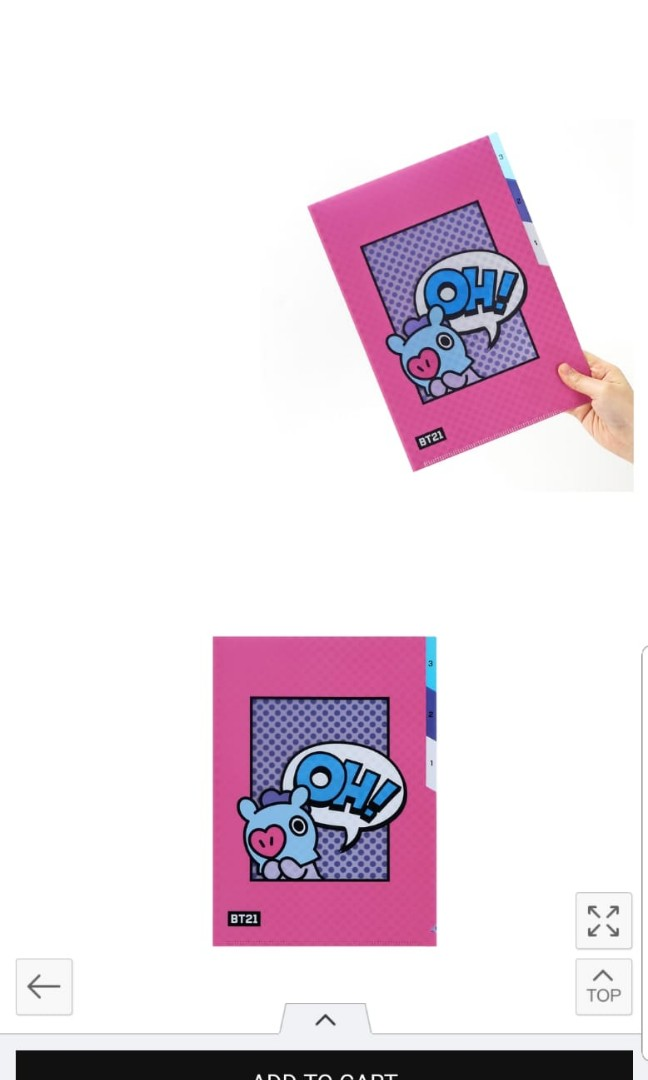 LF for BigHit's Official Mang 3 pocket Folder