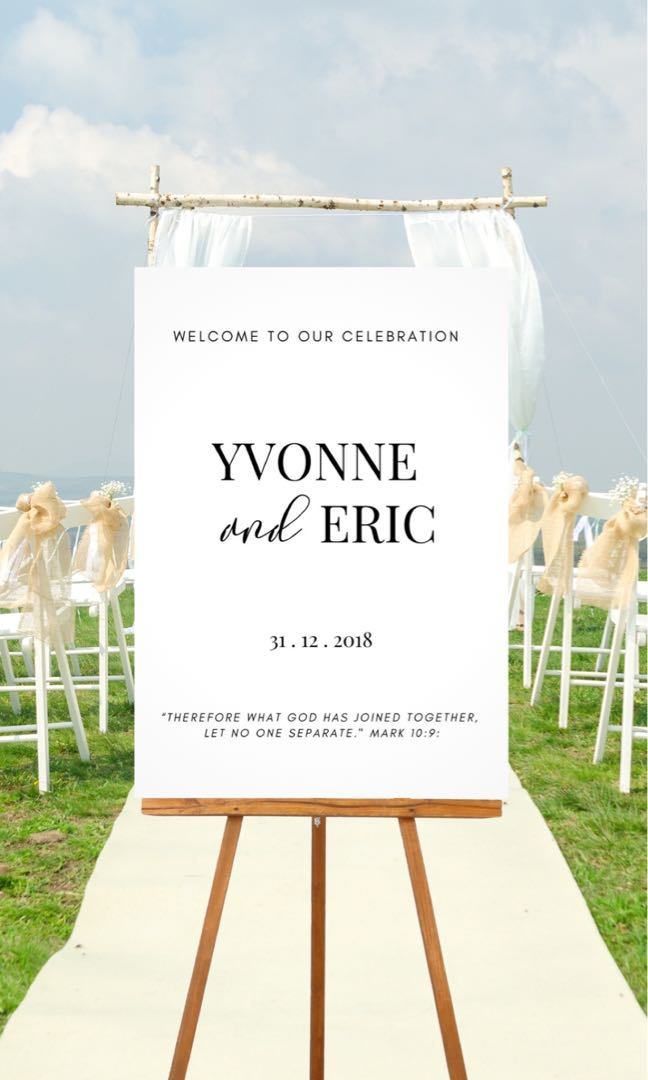 Custom acrylic wedding posters and many more!