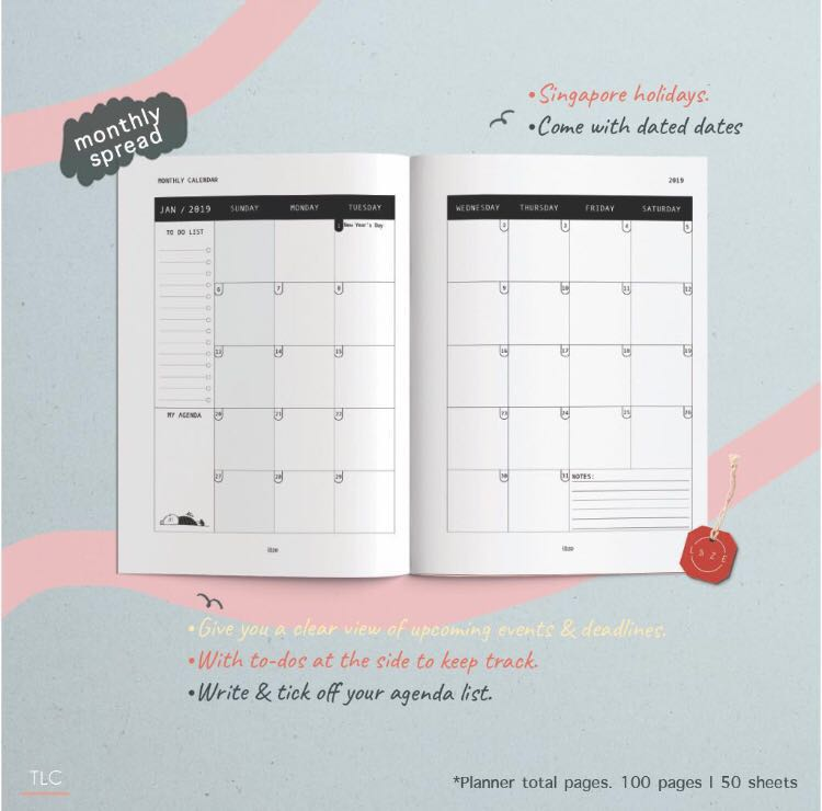 Monthly + Weekly Planner