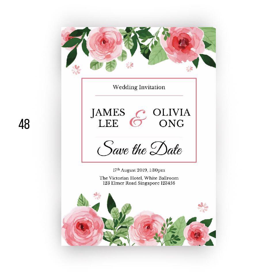 DIY wedding cards using beautiful templates🌸